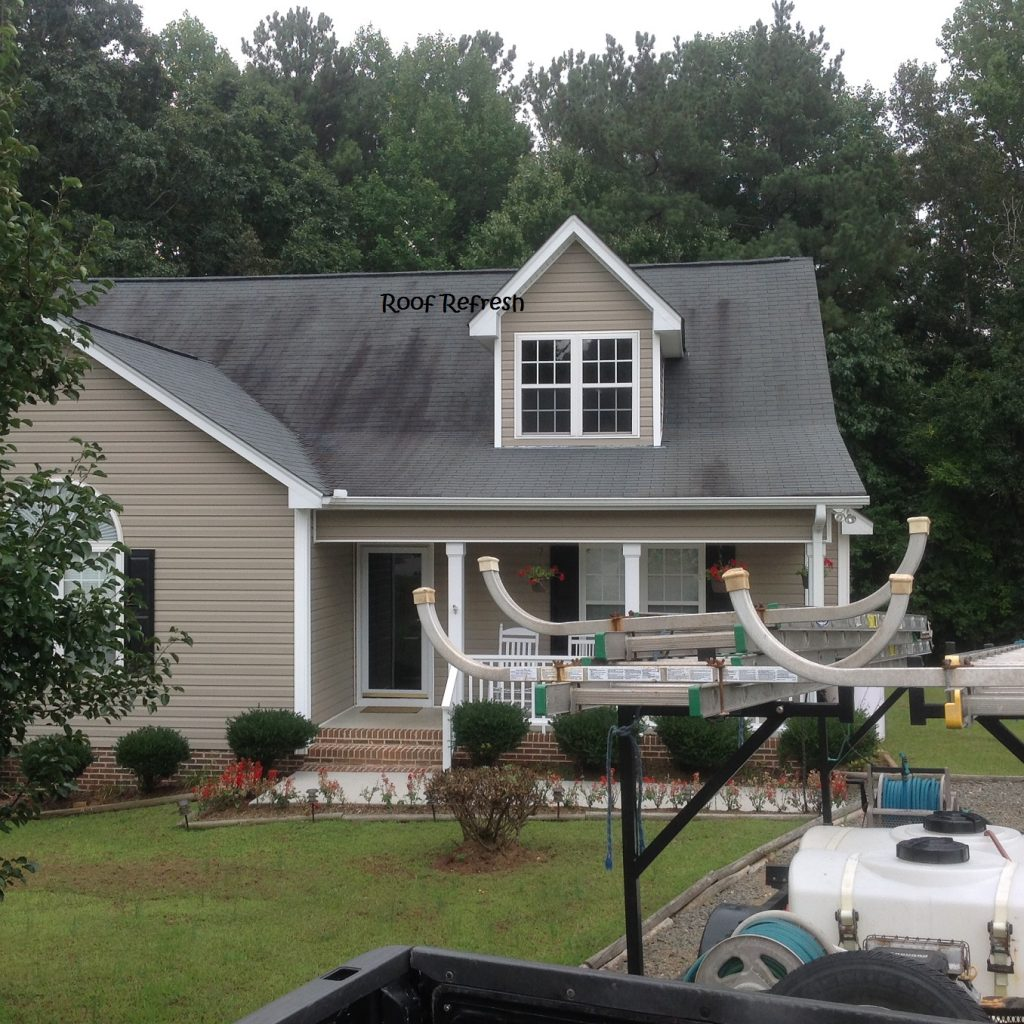 Roof cleaning Youngsville NC Before