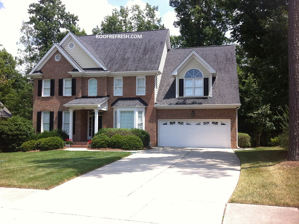 Softwashing Roof Washing Cary Raleigh Nc Roof Refresh