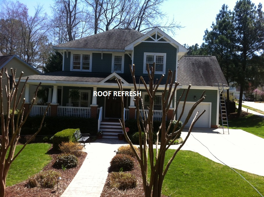 Roof stain removal Apex, NC