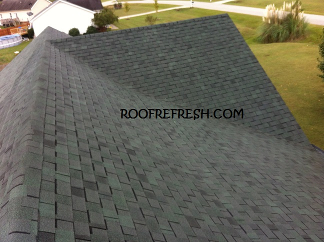 This was after the stains were removed from the roof & Recent Roof Cleaning Projects in Raleigh NC - Roof Refresh memphite.com