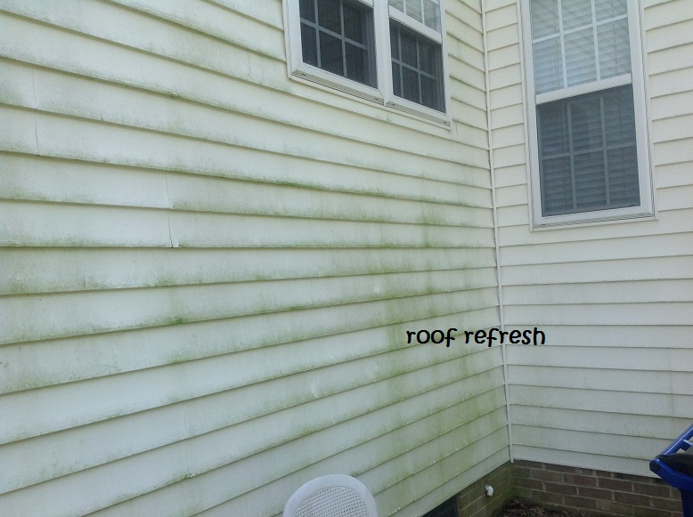 This was some dirty siding that was in desperate need of a good cleaning