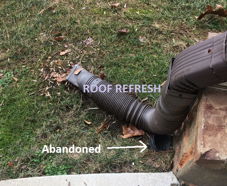 Clogged Gutter Pipes Underground Roof Refresh